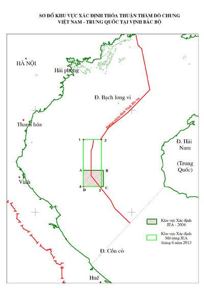 Việt-Trung đạt thỏa thuận khai thác dầu khí trong vịnh Bắc Bộ