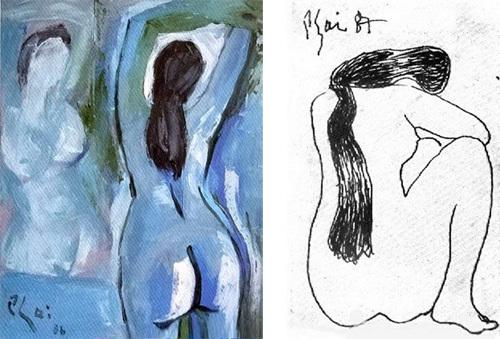 Những bức họa nude của Bùi Xuân Phái
