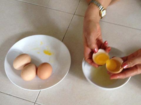 trứng gà, trứng 2 lòng đỏ, nội trợ