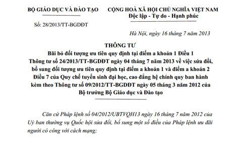 cộng điểm, bà mẹ Việt Nam anh hình, thông tư