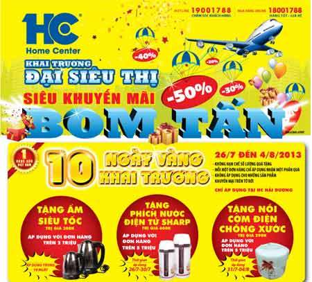 HC Hải Dương, khuyến mại, đại siêu thị, uy tín, hậu mãi chu đáo