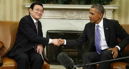 Chủ tịch nước, Trương Tấn Sang, Obama