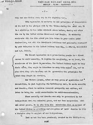 Thư Chủ tịch Hồ Chí Minh gửi Tổng thống Truman
