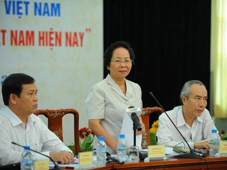 Phó Chủ tịch nước, Nguyễn Thị Doan, chương trình, sách giáo khoa, THPT, GS Hồ Ngọc Đại