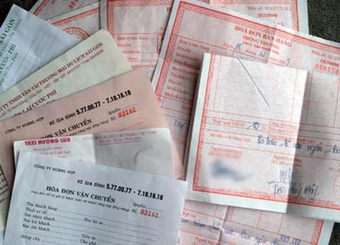 hóa đơn, giá đơn đỏ, hóa đơn khống, Mua bán trái phép, hóa đơn