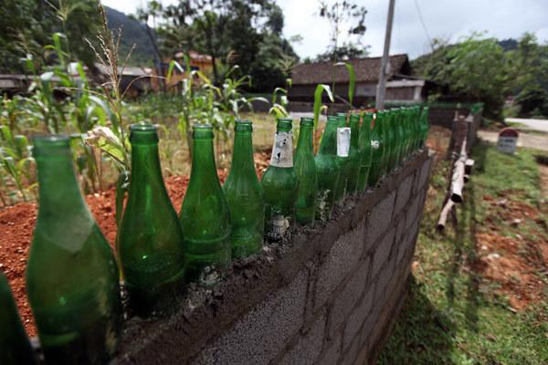 Vỏ chai thủy tinh, chai bia, chai rượu, trang trí, nhà cửa