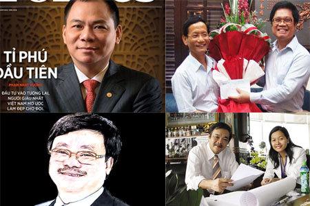 siêu giàu, tỷ phú Việt, triệu phú, xếp hạng, đại gia, bí ẩn
