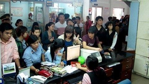 nhồi nhét, tàu tết, Giáp Ngọ, tăng giá, nhà ga, Hà Nội, hành khách