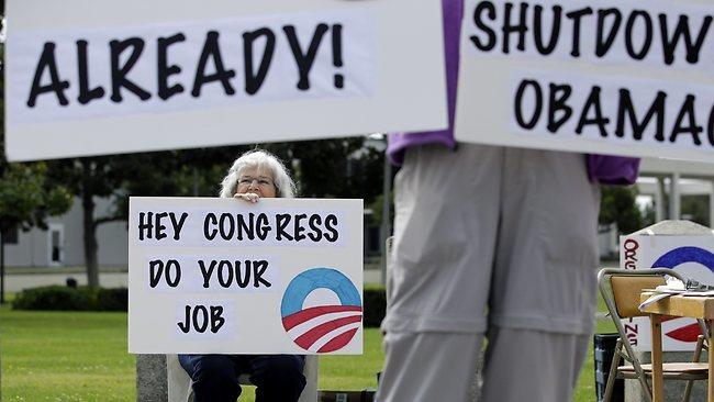 chính phủ Mỹ, đóng cửa, ngừng hoạt động, shutdown, vỡ nợ, Obama