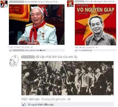 Cộng đồng mạng thức trắng tiếc thương Đại tướng