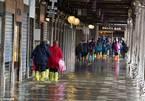 Du khách bì bõm lội nước tại Venice