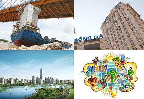 Vinashin, Sông Đà, Vinaconex, giải thể, phá sản, lợi ích, đầu tư tài chính, thương hiệu