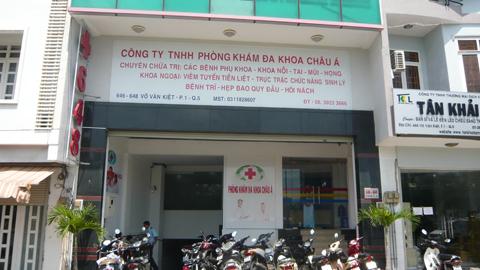 bác sĩ Trung Quốc, thanh tra, bỏ chạy tán loạn, phòng khám đa khoa Châu Á, TP.HCM