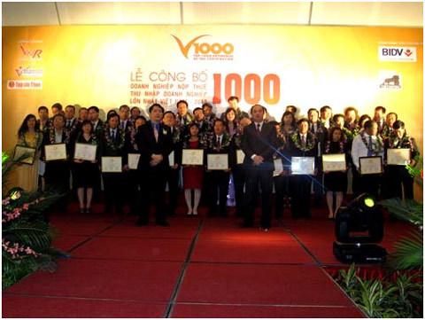 Bảng xếp hạng, Doanh nghiệp nộp thuế, Bảng Xếp hạng V1000, báo VietNamNet , Tạp chí Thuế