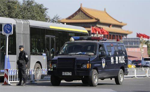 Thiên An Môn, đâm xe, tấn công, cảnh sát, nghi phạm