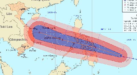 siêu bão, cấp 17, tiến về Việt Nam, biển Đông