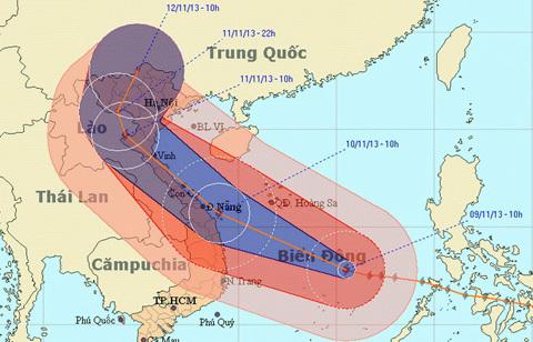Siêu bão đang hướng vào Quảng Ngãi - Quảng Trị