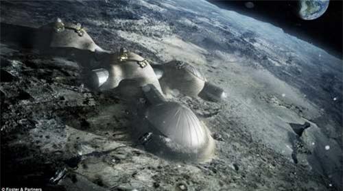 mặt trăng, xây dựng, dựng nhà, in 3D, phát triển