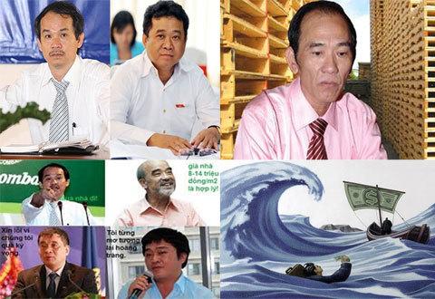 Đặng Thành Tâm, Đoàn Nguyên Đức, Võ Trường Thành, Hồ Huy, Nguyễn Đức Thụy, Huỳnh Uy Dũng, Diệu Hiền, doanh nhân, đại gia