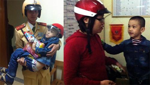 CSGT giúp bé trai 5 tuổi bị lạc về với gia đình
