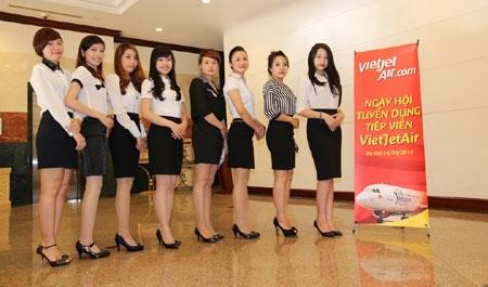 tiếp viên hàng không, nghề hot, giới trẻ, VietJetAir