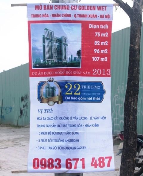 Thê thảm quảng cáo chung cư cao cấp