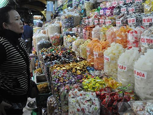 bánh kẹo, bánh-kẹo, mứt-Tết, Trung Quốc, Trung-Quốc, hạt-bí, hạt-dẻ