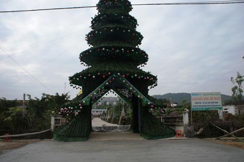 Ngắm cây thông Noel cao bằng tòa nhà 7 tầng