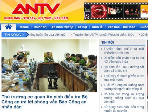 ANTV, website, truyền hình, công an