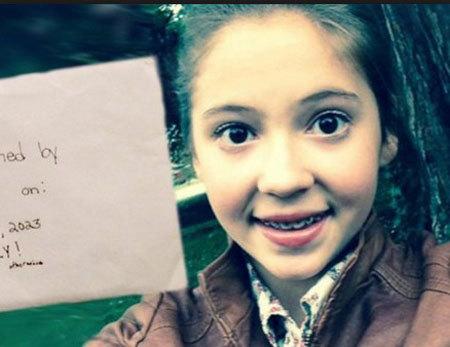 bé gái, gửi thư cho mình