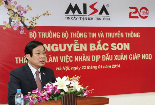 Bộ trưởng Nguyễn Bắc Son, phần mềm, công nghệ thông tin