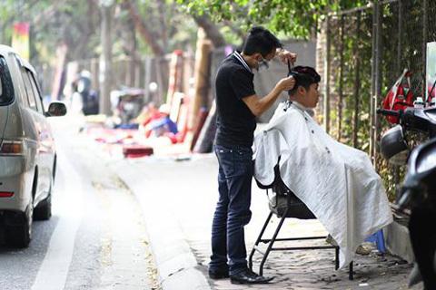 cắt tóc, rửa xe, cuối năm, Tết