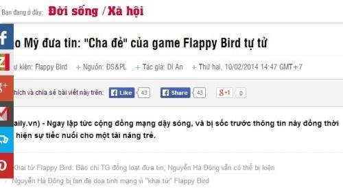 Flappy Bird và bài học sinh tồn của người nổi tiếng