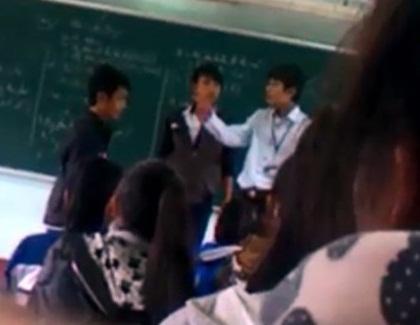 Học sinh, thầy giáo, đánh nhau