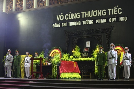 Bộ Công an tổ chức tang lễ Thứ trưởng Phạm Quý Ngọ