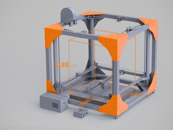đồ nột thất, máy in 3D, BigRep One, sản xuất ,kích thước lớn