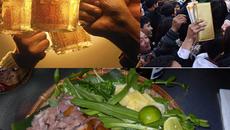 Thịt chó, bia và tranh ấn đền Trần... chuyện thường thôi!