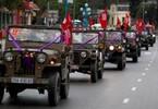 Đám rước dâu bằng toàn xe Jeep cổ ở Quảng Ninh