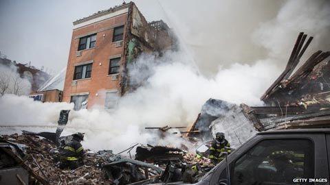nổ, New York, chung cư