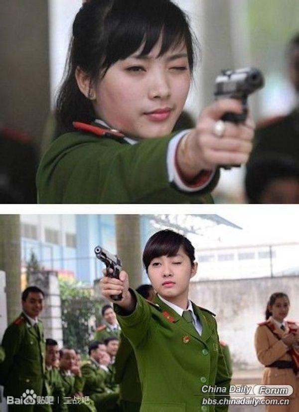 nữ cảnh sát, xinh đẹp, nước ngoài