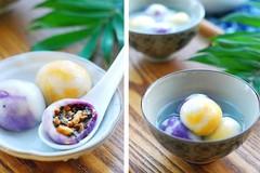 Bánh trôi nước tam sắc thơm ngon đón Tết Hàn thực