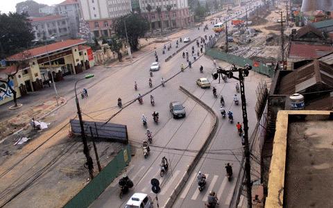 Đường thẳng thành 'ghi đông xe đạp' ở Thủ đô