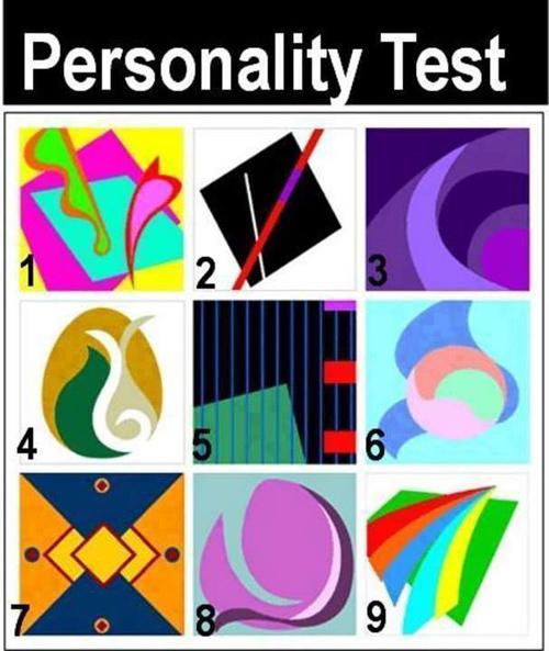 trắc nghiệm, tính cách, màu sắc, hình dạng