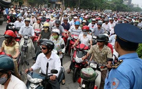 xe máy, tắc đường, cấm xe máy, giao thông, ô tô