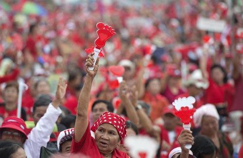 Thái Lan, Bangkok, Áo Đỏ, biểu tình, ủng hộ, Yingluck Shinawatra