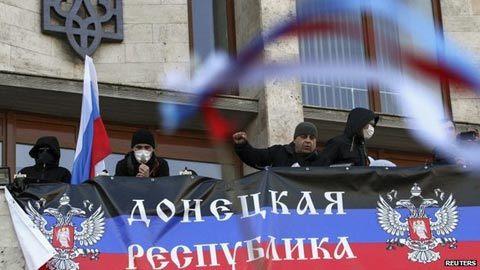 Người thân Nga chiếm toà nhà chính quyền tại đông Ukraina