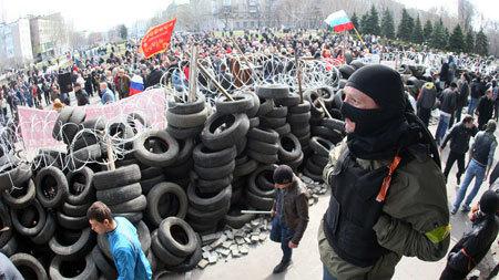 Ukraina, Donetsk, tuyên bố, độc lập, biểu tình