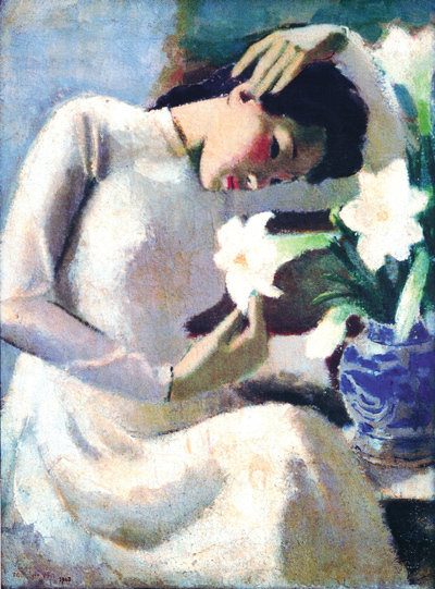 nhà giáo, mỹ thuật, Tô Ngọc Vân, Thiếu nữ bên hoa huệ