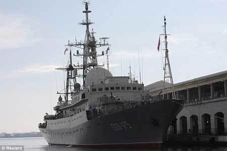 Tàu do thám Nga hoạt động sát sườn Mỹ