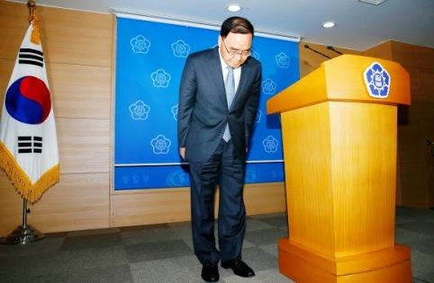 văn hóa từ chức, Thủ tướng Hàn Quốc